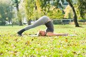 Halasana yoga — Photo