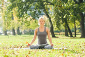 Yoga Ardha Padmasana — Stock Photo