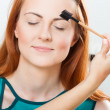 Stock Photo: Eyebrow grooming