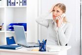 Concerned businesswoman — Stock Photo
