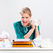 Frustration at work — Stock Photo