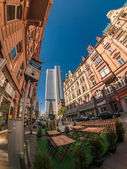 Frankfurt city street view — Stock Photo