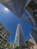Frankfurt city street view — Stock Photo