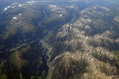 Aerial view of the Alps — Stock Photo