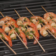 Stock Photo: Shish kebab from seshrimps
