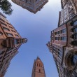 Fisheye view of Hannover old city — Stock Photo #40980441