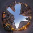 Stock Photo: Hannover. Fisheye view of Marktplatz.