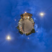 Ernst-August Plaza in Hannover. Little Planet. — Stock Photo