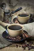 две чашки кофе с пряностями — Стоковое фото