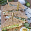Stock Photo: Egg salad sandwiches
