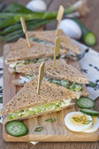 Egg salad sandwiches — Stock Photo