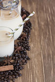 Ice coffee background — 图库照片