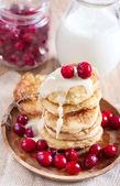 Russian quark pancakes — Stock Photo