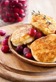 Russian quark pancakes — Stock Photo