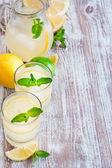 Mint lemonade background — ストック写真