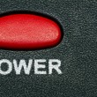 Red power button — 图库照片