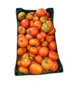 Red tomatoes box — Stock Photo