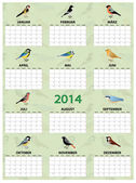 2014 german calendar — Stock Vector