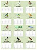 2014 spanish calendar — Stock Vector
