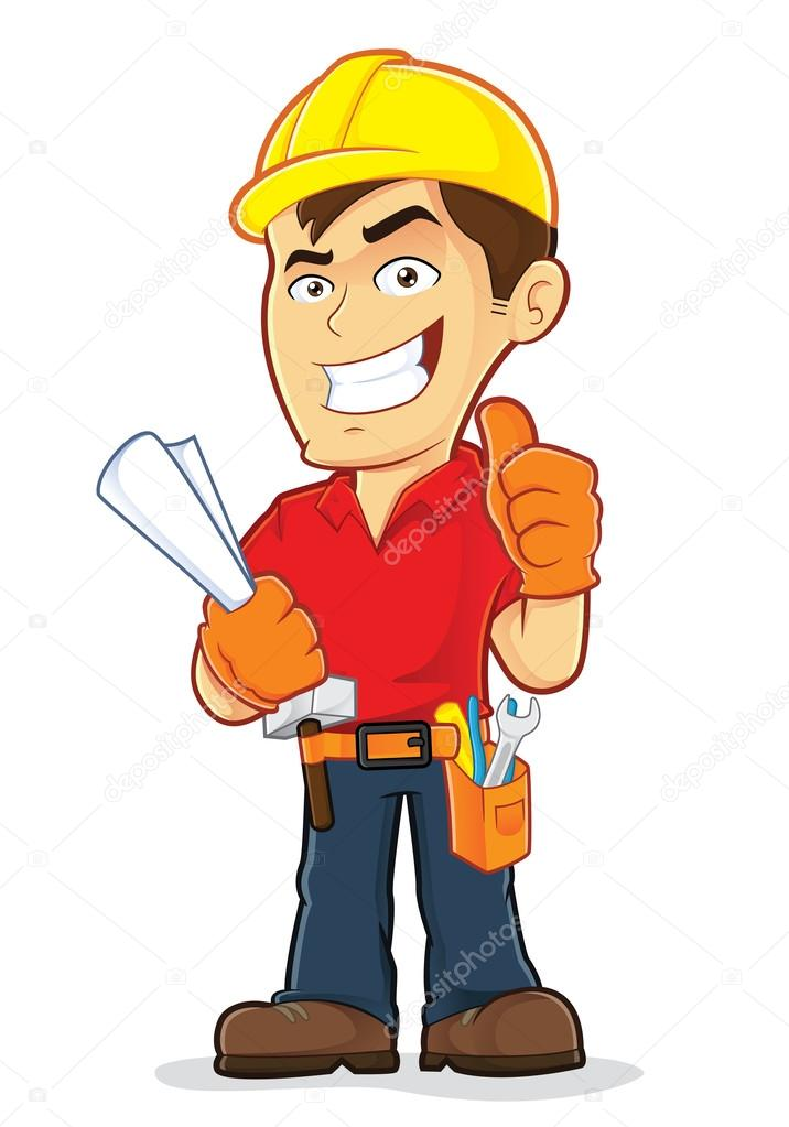 Construction Worker — Stock Vector © sundatoon #38940691