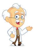 Professor in Welcoming Gesture — Stock Vector