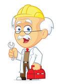 Professor Repairman — Stock Vector