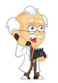 Professor Talking on the Phone — Stock Vector