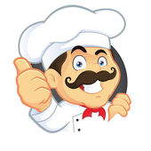 Chef Giving Thumbs Up — Stock Vector