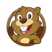 Beaver giving thumb up — Stock Vector