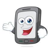 Smartphone in die einladende geste — Stockvektor