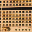 Stock Photo: Luxury cruising ship closeup. view from left.