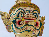 Demon head from Wat Phra Kaew - temple of the Emerald Buddha — Stock Photo