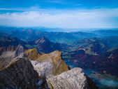 Scenic view from Säntis, Swiss Alps — Stock Photo