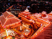 Buddhist temple on chinese new year celebration — Stock Photo