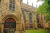 Old abbey in Shrewsburry, England. closeup. HDR picture — Stock Photo