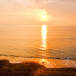 Sunset over the ocean. taken in Wales, England — Stock Photo #39297557