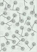 White dandelions on gray background — Stock Vector