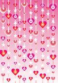 Vektor som hjärta och kärlek etiketter och ikoner — Stockvektor