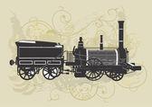Tren vintage — Vector de stock