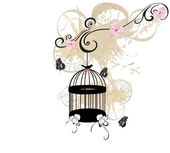 Birdcage — Stock Vector