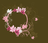 Floral frame — Vettoriale Stock