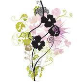 Fleurs noires — Vecteur