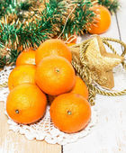 Mandarines sur la table — Photo