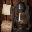 Old kerosene stove and a roll of twine — Stock Photo #44154397