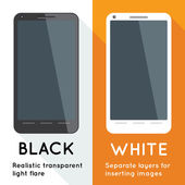 Two smartphones — Vector de stock