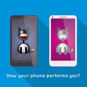 Two smartphones — Stock Vector