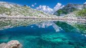 Lake Rjavo jezero in Triglavska Sedmera jezera valley in Slovenia — Stock Photo