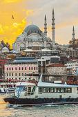Abendstimmung am Bosporus in Istanbul — Stock Photo