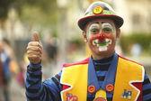 Clown at carnival — Stockfoto