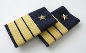 Chief Officer's epoulets — Stock Photo